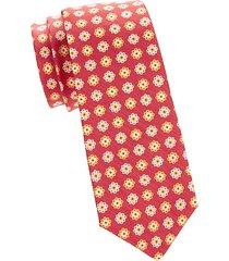 floral silk blend tie