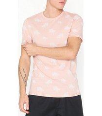 premium by jack & jones jprslam bla. tee ss crewneck t-shirts & linnen ljus rosa