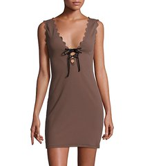 amagansett lace-up dress