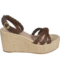 gianvito rossi braided wedge sandals