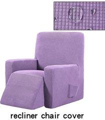 silla reclinable resistente al agua ala muebles sofá salón funda protector de la cubierta - púrpura