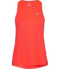 race sleeveless t-shirts & tops sleeveless röd asics