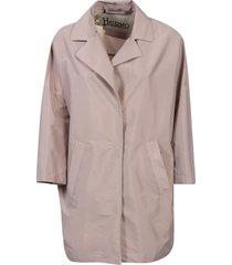 herno side slit pocket concealed coat