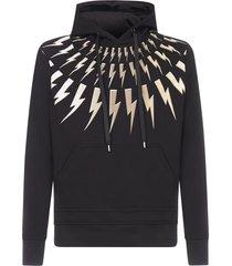 neil barrett thunder 3d cotton-blend hoodie