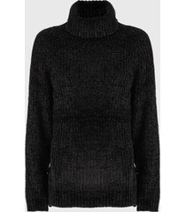 sweater nrg chenille negro - calce oversize