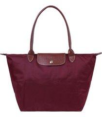 bolsa de hombro plegable bolso 1899089 para mujer-vino rojo