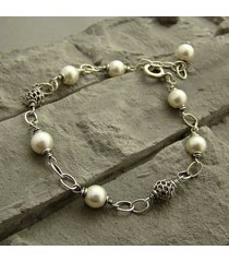 perły z ażurem - bransoletka