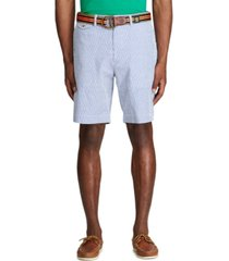 "polo ralph lauren men's classic fit 9.25"" seersucker shorts"