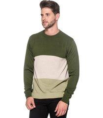 suéter passion tricot listra larga verde