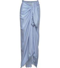 beach sarong baddräkt badkläder blå missya