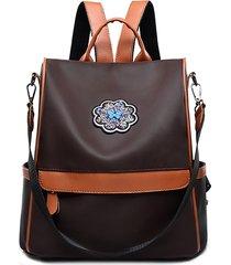 zaino per borse a tracolla in ecopelle multifunzionale alla moda da donna
