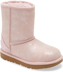 toddler girl's ugg classic ii shimmer metallic bootie, size 9 m - pink