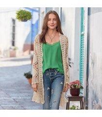 sofia crochet cardigan sweater