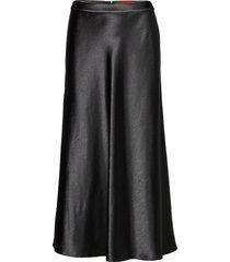 racela-1 knälång kjol svart hugo