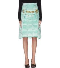 'intercciato' puffed chain detail skirt
