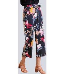 broek alba moda zwart::groen::roze
