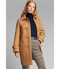 abrigo con lana camel esprit