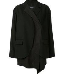 goen.j overlay effect blazer - black
