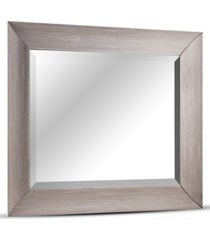american art decor leighton driftwood beveled wall mirror