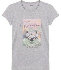 camiseta m/c con screen en policromia