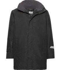 dubliner insulated long jacket regenkleding zwart helly hansen