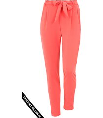 strik broek basic koraalrood