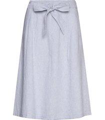 skirts light woven knälång kjol blå esprit casual