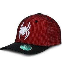 gorra spiderman marvel telaraña roja gris oc caps