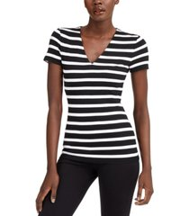 inc striped v-neck t-shirt, created for macy's
