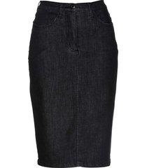gonna di jeans superstretch modellante (nero) - bpc selection premium