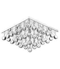 lustre de cristal legitimo classic square 40x40 maravilhoso