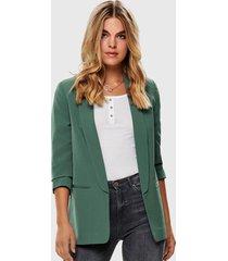 blazer only verde - calce regular
