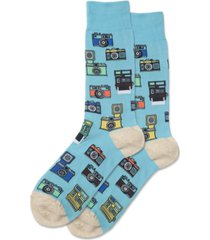 hot sox men's vintage cameras crew socks