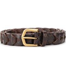 ajmone trecciamo woven belt - brown