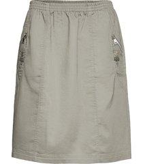 sc-akila knälång kjol grå soyaconcept