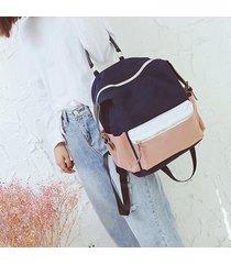 mochila de mujer/ mochila escolar grande lienzo sac a-azul