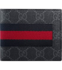 men's gucci supreme wallet - black