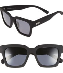 le specs 'weekend riot' 55mm sunglasses in black rubber/smoke mono polar at nordstrom
