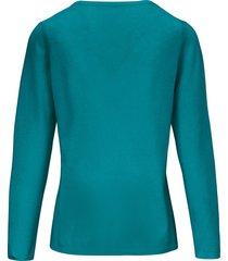 trui van scheerwol en kasjmier met ronde hals van include turquoise