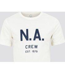 t-shirt med print - offwhite