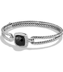 women's david yurman albion bracelet with semiprecious stone and diamonds