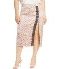 plus size women's leith lace trim skirt