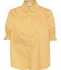 alette shirt kortärmad skjorta gul minus