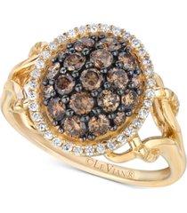 le vian chocolatier diamond cluster ring (1 ct. t.w.) in 14k gold