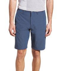 men's travismathew beck stretch performance shorts, size 35 - blue