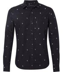 camisa john john william algodão preto masculina (preto, gg)