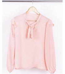 blusa rosa nano georgina