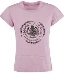 ermanno scervino round logo t-shirt