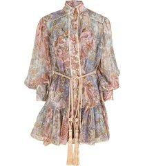 jacobean lucky bound mini dress