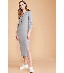 lou & grey ribbed brushed henley midi dress